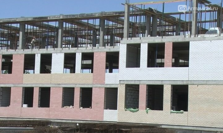Возведение новой школы в Армавире идет в срок, фото-1
