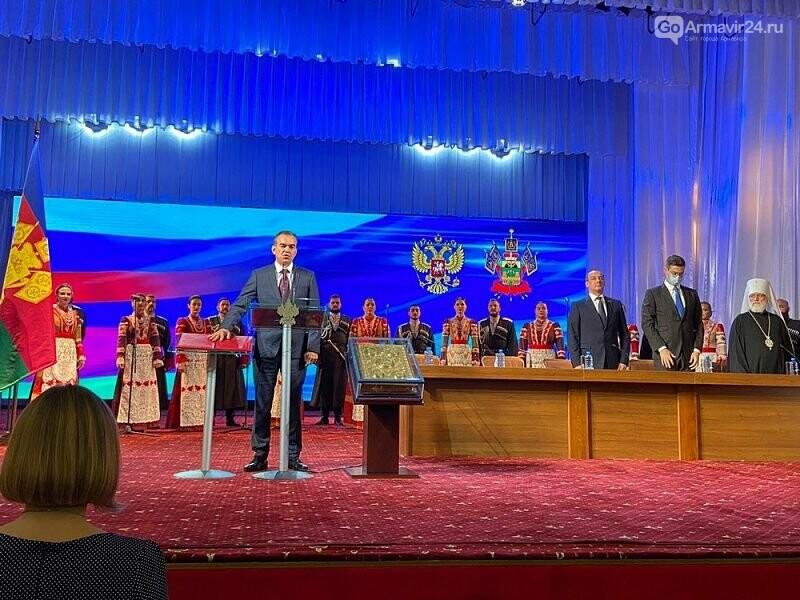 Губернатор Кубани Вениамин Кондратьев вступил официально в свою должность на второй срок, фото-3