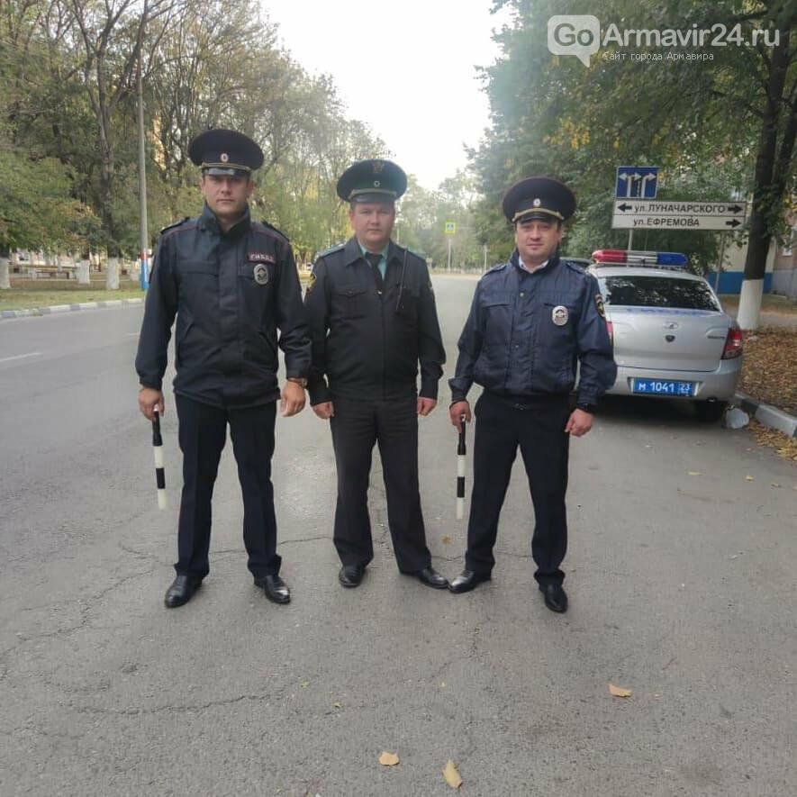 В Армавире должники в тревоге, сотрудники ГИБДД и приставы на дороге, фото-1