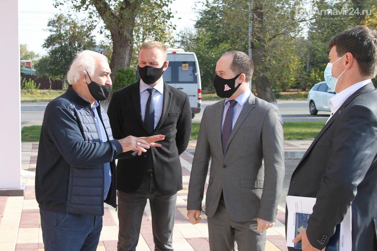 Армавир посетил с рабочим визитом министр физической культуры и спорта Края Алексей Чернов, фото-4