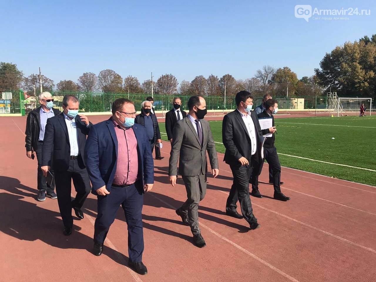 Армавир посетил с рабочим визитом министр физической культуры и спорта Края Алексей Чернов, фото-5