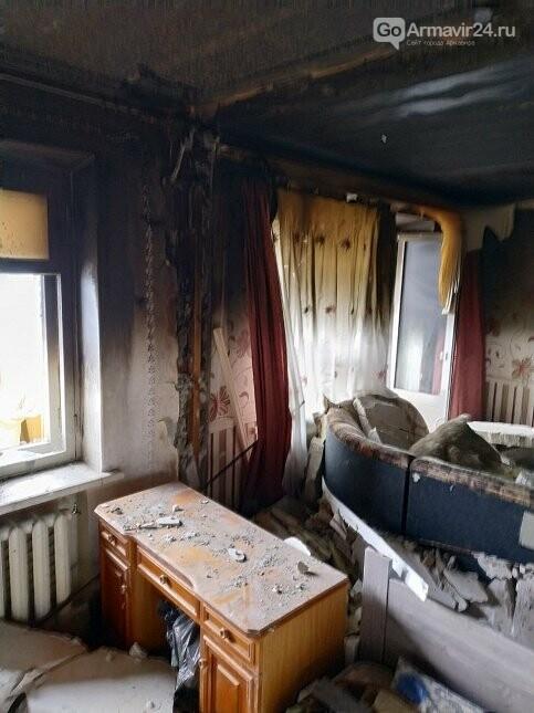 Из-за пожара в одой из квартир Армавира  в 5-этажке эвакуировали 170 человек, фото-4
