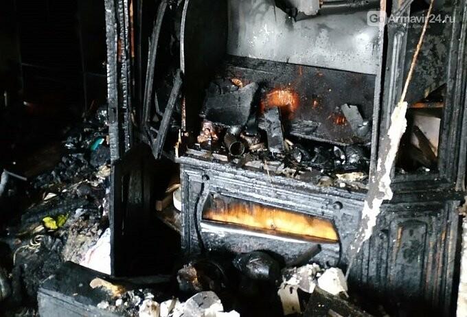 Из-за пожара в одой из квартир Армавира  в 5-этажке эвакуировали 170 человек, фото-5