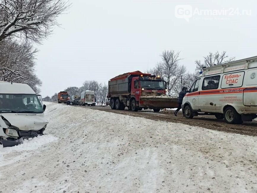 "Жестокая авария произошла утром 8 февраля на трассе ФАД ""Кавказ"" под Армавиром, фото-2"
